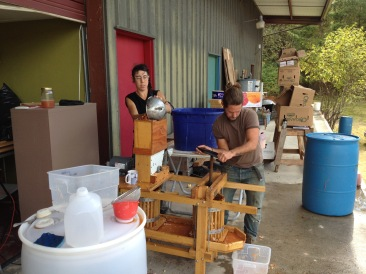 Pressing apples on Taproot's handy loading dock
